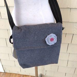 Handbags - Handmade wool messenger crossbody  purse
